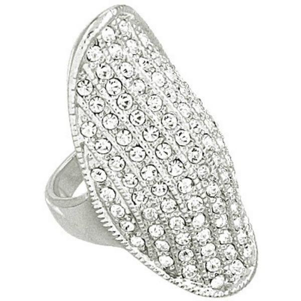 "*[R]-Silver Rhinestone Statement Ring - jewelz by julz...""The Collection!"""