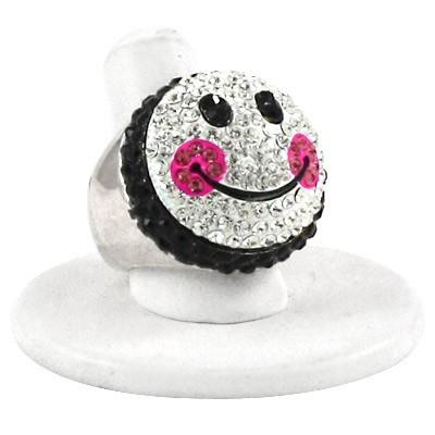 "*[R]-Smiley Face Stretch Ring - jewelz by julz...""The Collection!"""