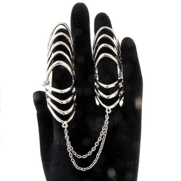 "*[R]-Silvertone V-Caged Double Duty Ring - jewelz by julz...""The Collection!"""