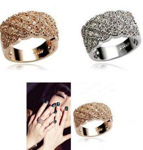 "*[R]-Rhinestone Encrusted Simple Statement Ring - jewelz by julz...""The Collection!"""