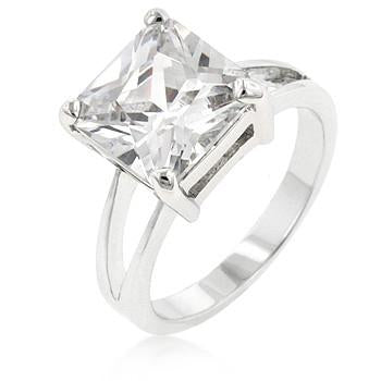 "*[R]-Square Clear Ice Engagement Ring - jewelz by julz...""The Collection!"""
