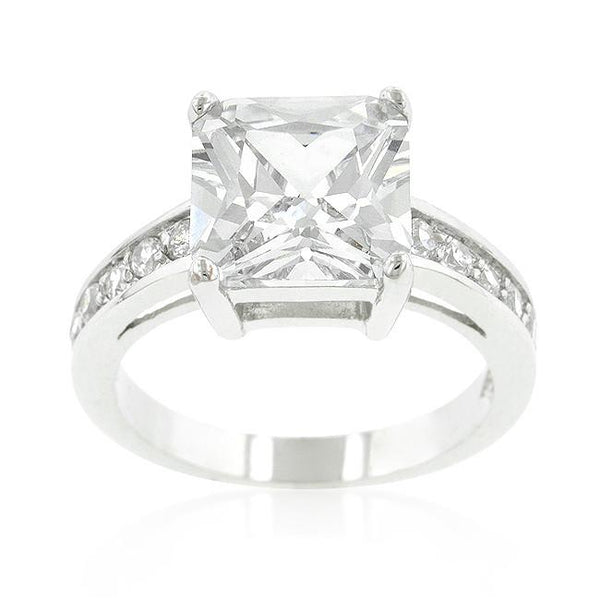 "*[R]-Classic Prinicess Cut Raised Pave Engagement Ring - jewelz by julz...""The Collection!"""