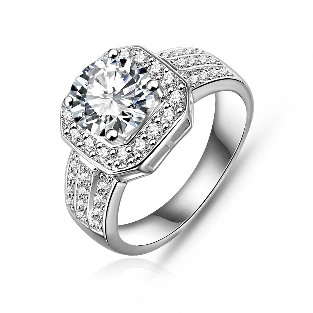 "*[R]-Square Cut Micro Pave AAA Cubic Zirconia Wedding Jewelry Ring - jewelz by julz...""The Collection!"""