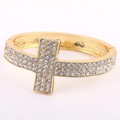 "*[B/L]-Rhinestone Cross Design Statement Bracelet - jewelz by julz...""The Collection!"""