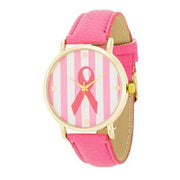 "*[WTC]-Breast Cancer Awareness Pink Leather Grain Watch - jewelz by julz...""The Collection!"""