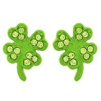 "*[E/R]-Four Leaf Clover Rhinestone Post Earrings - jewelz by julz...""The Collection!"""