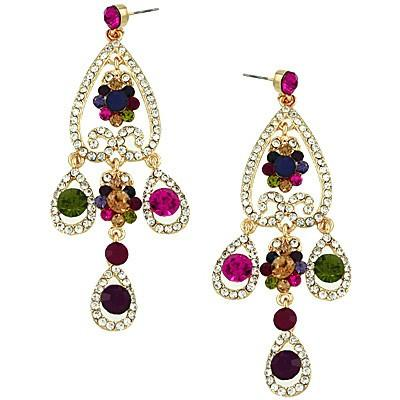"*[E/R]-Multi-Color Rhinestone Chandelier Earrings - jewelz by julz...""The Collection!"""