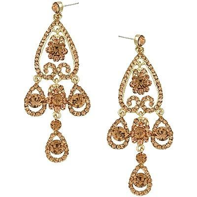 "*[E/R]-Rosegold Rhinestone Chandelier Earrings - jewelz by julz...""The Collection!"""