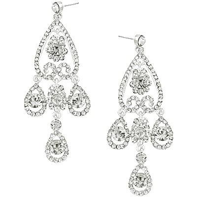 "*[E/R]-Platinum Finish Rhinestone Chandelier Earrings - jewelz by julz...""The Collection!"""