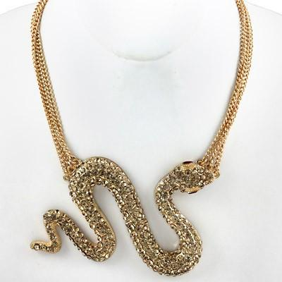 "*[N/L]-Goldtone Snake Statement Necklace - jewelz by julz...""The Collection!"""