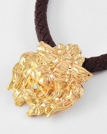 "*[N/L]-Goldtone Lion Head Corded Necklace Unisex - jewelz by julz...""The Collection!"""