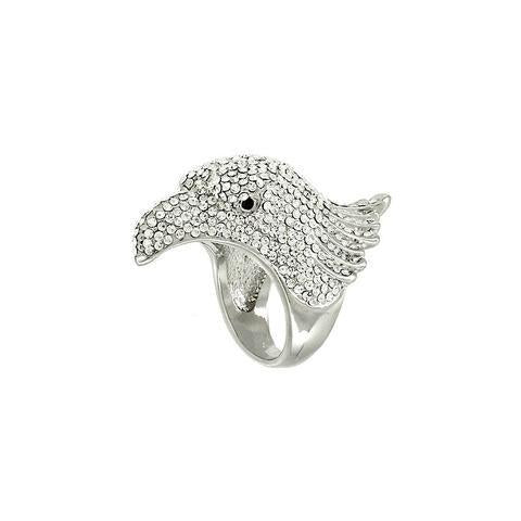 "*[R]-Rhinestone Eagle Head Ring- Sz 6 - jewelz by julz...""The Collection!"""