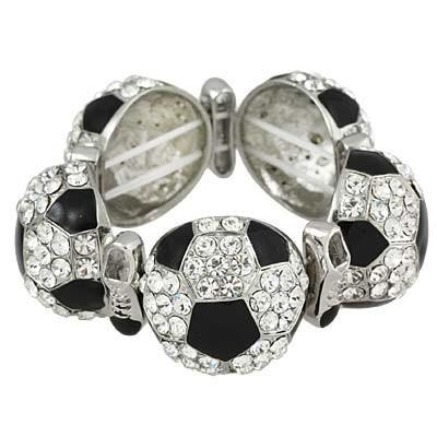 "*[B/L]-Full On Bling Soccer Charm Bracelet - jewelz by julz...""The Collection!"""