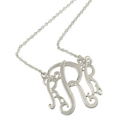 "*[N/L]-Monogram Necklace ~R~ Silvertone - jewelz by julz...""The Collection!"""