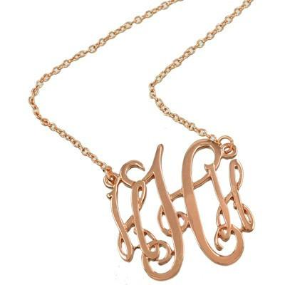 "*[N/L]-Monogram Necklace ~H~ Rosegold Finish - jewelz by julz...""The Collection!"""