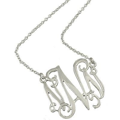 "*[N/L]-Monogram Necklace ~N~ Silvertone - jewelz by julz...""The Collection!"""