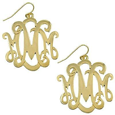 "*[E/R]-Monogram Earring ~M~-Goldtone - jewelz by julz...""The Collection!"""