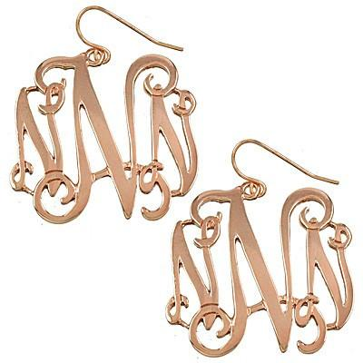 "*[E/R]-Monogram Earring ~N~ Rosegold Finish - jewelz by julz...""The Collection!"""