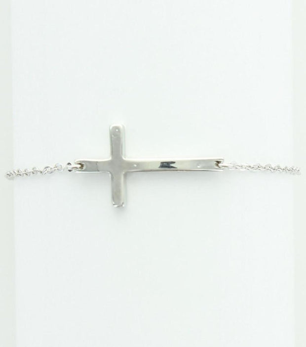 "*[B/L]-Fine Horizontal Polished Cross Bracelet - jewelz by julz...""The Collection!"""