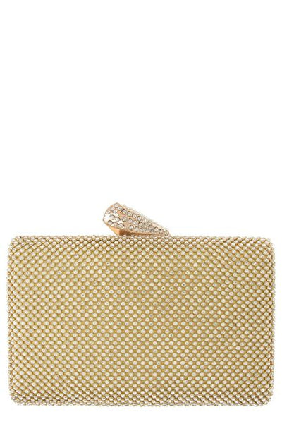 The Pave Goldtone Clutch Bag