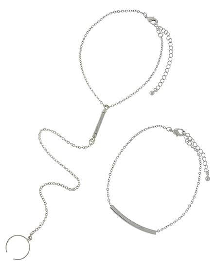 "*[ANK]-Silvertone Anklet/Toe Ring  Set - jewelz by julz...""The Collection!"""