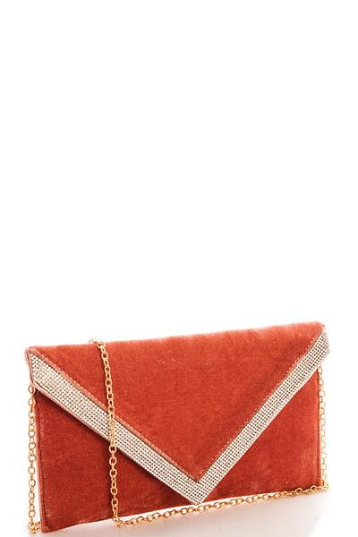 The Velvet Envelope Clutch