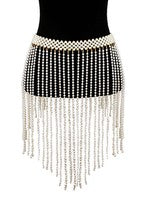 Pearl Drape Waisted Belt