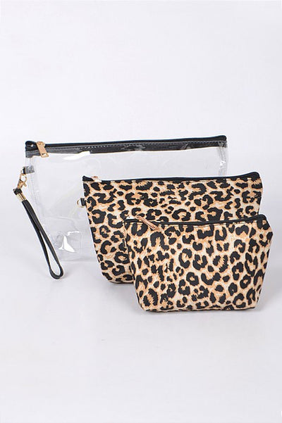 Clear Clutch Leopard Bag