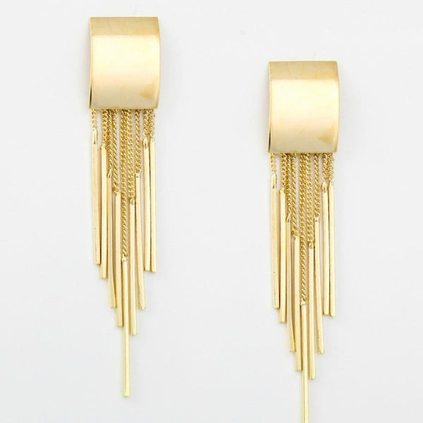 "*[E/R]-Goldtone Tassel Spike Post Earrings - jewelz by julz...""The Collection!"""
