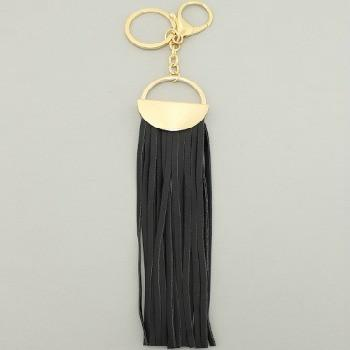 "*[ETC]-Black Tassel Purse Charm- Goldtone - jewelz by julz...""The Collection!"""