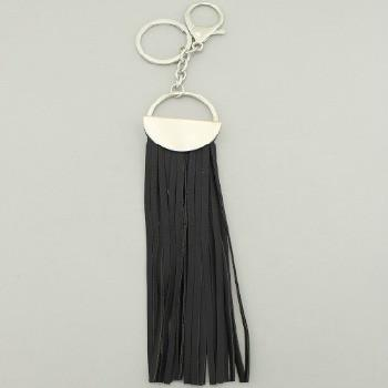 "*[ETC]-Black Tassel Purse Charm- Silvertone - jewelz by julz...""The Collection!"""