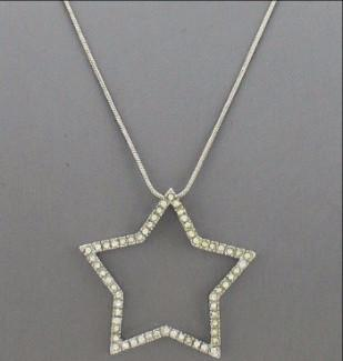"*[N/L]-Rhinestone Open Star Pendant Necklace - jewelz by julz...""The Collection!"""