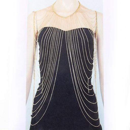 "*[B/J]-Full Drape Neck & Arm Body Chain- Goldtone - jewelz by julz...""The Collection!"""