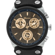 Men's Geneva Silver Dial Chronograph Watch - g.e.llc•Style