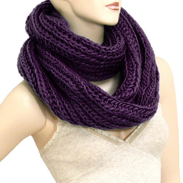 *Oversized Chunky Cable Knit Infinity Scarf- 6 Color Options - g.e.llc•Style