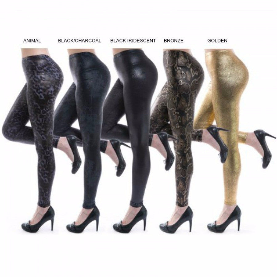 *Metallic Liquid Leggings- Assorted Color Options - g.e.llc•Style