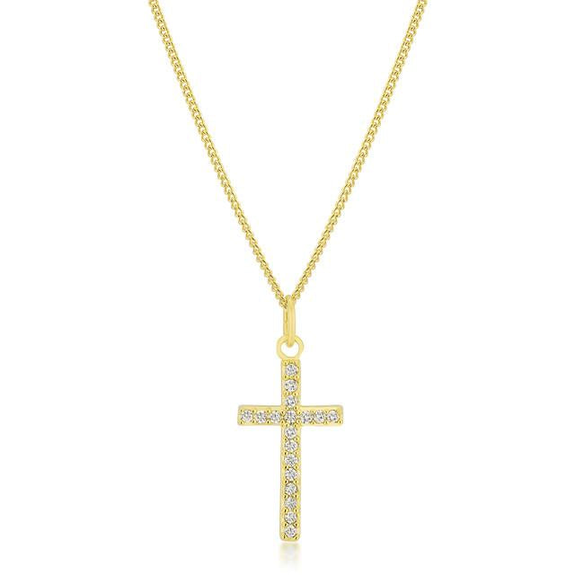 "[N/L]-Simple Rhinestone Cross Pendant - jewelz by julz...""The Collection!"""