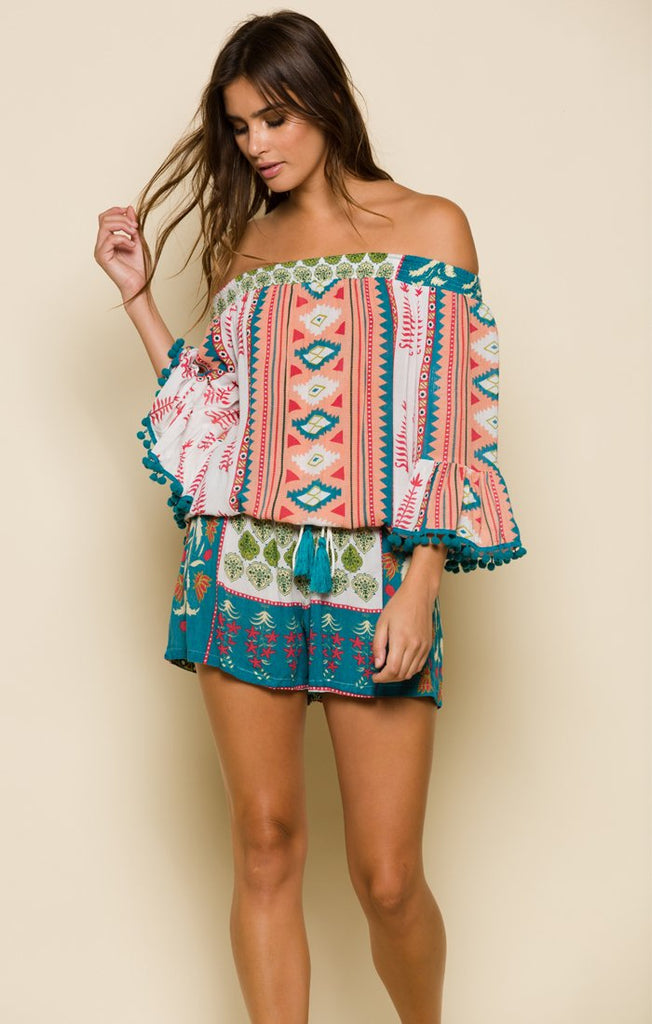 ALBUQUERQUE NIGHTS POM-POM ROMPER