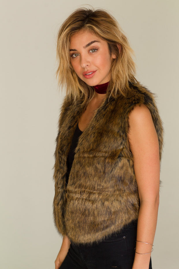 Bearclaw Faux Fur Vest