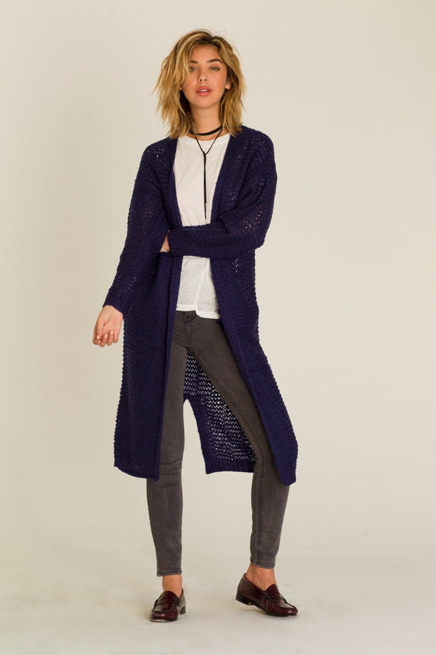 Blue Cardigan Sweater