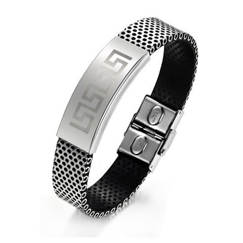 Men's Great Wall Design Titanium Steel Bracelet - g.e.llc•Style