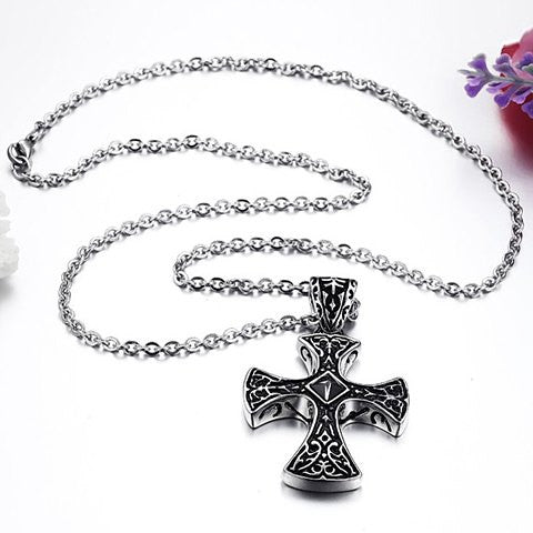 Men's Cross Pendant Necklace