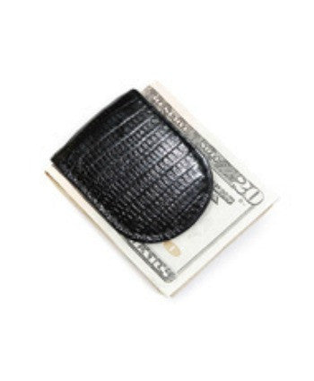 *Faux Leather Croco Print Magnetic Money Clip - g.e.llc•Style