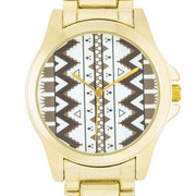 "[WTC]-Brown & Golod Tribal Print Face Watch - jewelz by julz...""The Collection!"""
