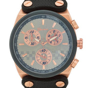 "[MJ]-Men's Rosegold Chronograph Textured Faux Leather Strap - jewelz by julz...""The Collection!"""