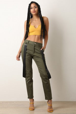 Suspender Accent Utility Pants