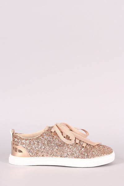 Encrusted Sparkling Glitter Lace Up Sneaker