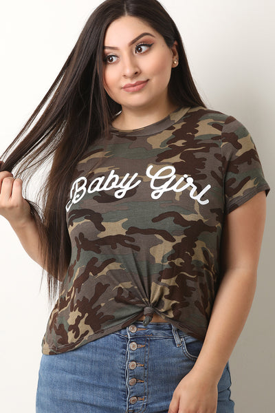 Camouflage Baby Girl Front Tie Top