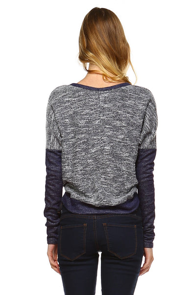 Women's Long Sleeve Colorblock Sweatshirt