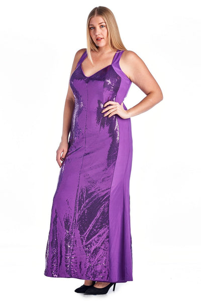 Women's Plus Size Sequin Evening Gown